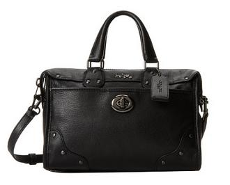 COACH Crackle Leather Rhyder 24 Satchel