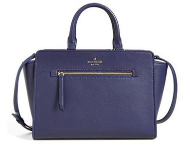 kate spade new york 'North Court - Coralline' Pebbled Leather Satchel @ Nordstrom