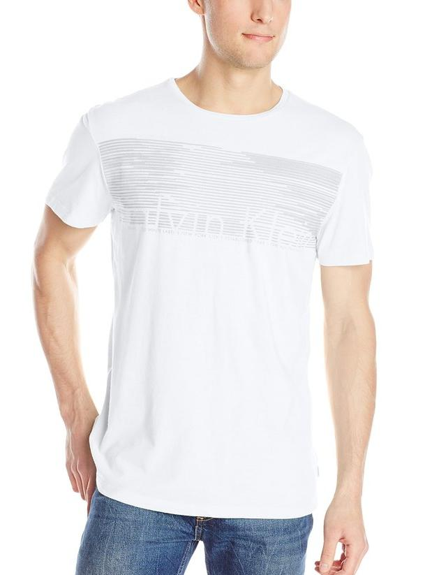 Calvin Klein Men's Linear Grid T-Shirt