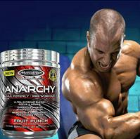 MuscleTech Anarchy Pre-Workout Pink Lemonade Powder, 309 Gram