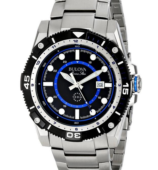 $103.96 Bulova Men's 98B177 Marine Star Stainless Steel Watch