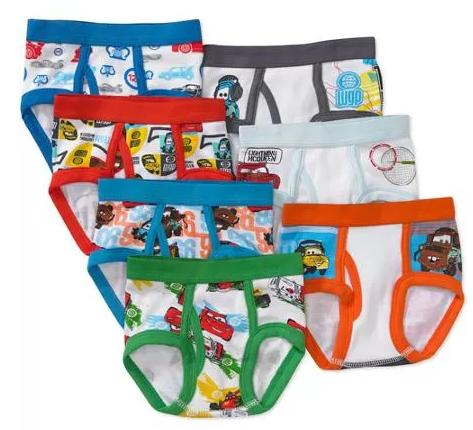$7.45 Disney Toddler Boys' Cars Favorite Characters Underwear, 7-Pack