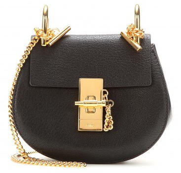 $1190 CHLOÉ Nano Drew leather shoulder bag