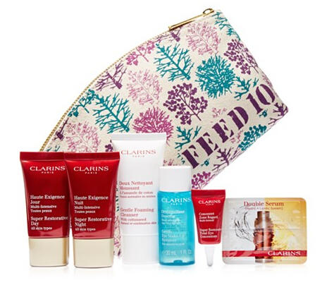 Free 2 set of 7 Pc Gift with $75 Clarins Purchase at Macy's