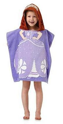Disney Girl's Hooded Towel Poncho