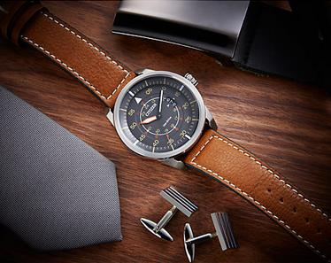 Citizen Avion Dark Grey Dial Mens Watch AW1361-10H
