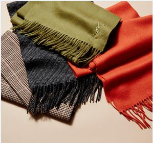 For $85 Yves Saint Laurent Wool Scarves @ Gilt