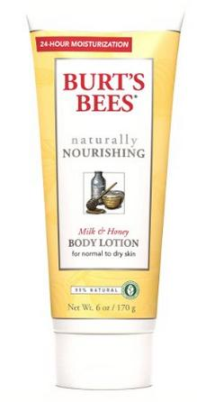 Burt's Bees Milk and Honey Body Lotion, 6 Ounces (Pack of 3)