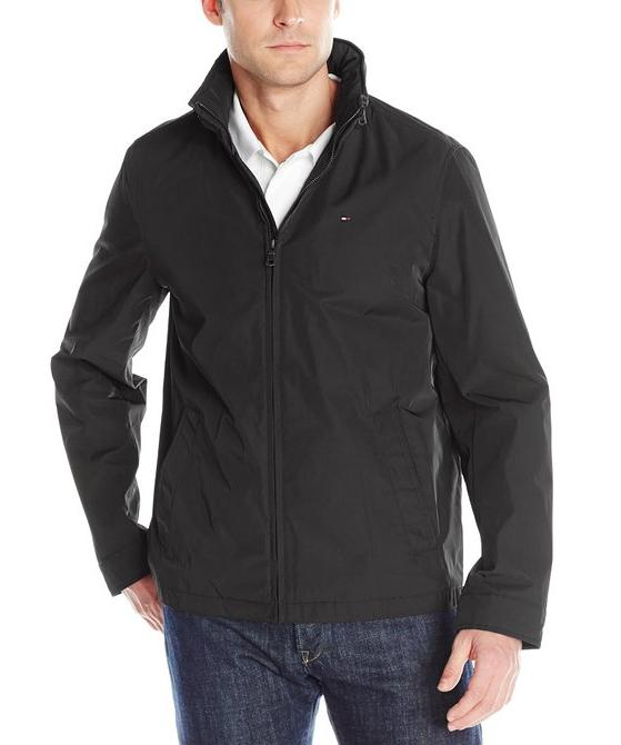 Tommy Hilfiger Men's Stand Collar Zip Front Jacket