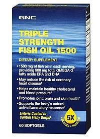 2 for $20 GNC Triple Strength Fish Oil 1500
