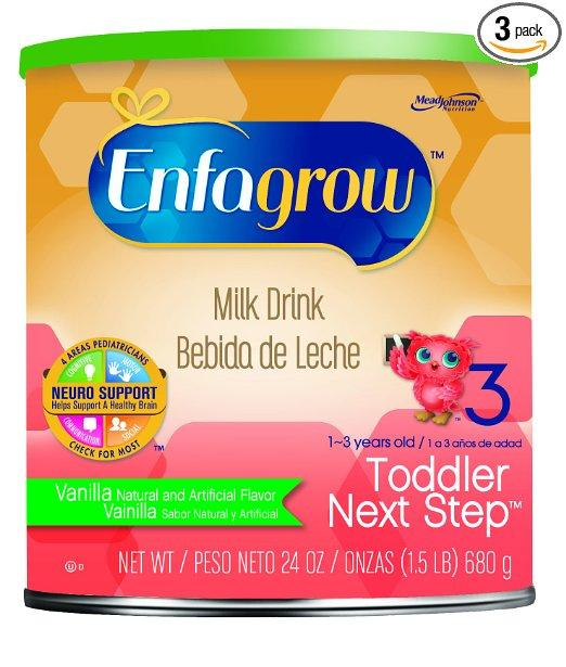Enfagrow Toddler Next Step Vanilla Milk Drink - 24 oz Powder Can (Pack of 3)