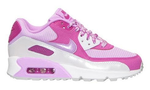 Girls' Grade School Nike Air Max 90 Mesh Running Shoes