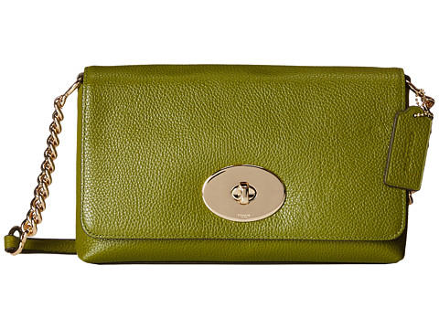 COACH Polished Pebble Leather Crosstown Crossbody