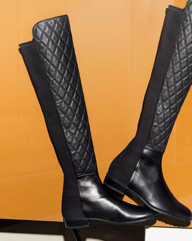 Stuart Weitzman Quiltboot 50/50 Over-the-Knee Boot, Black
