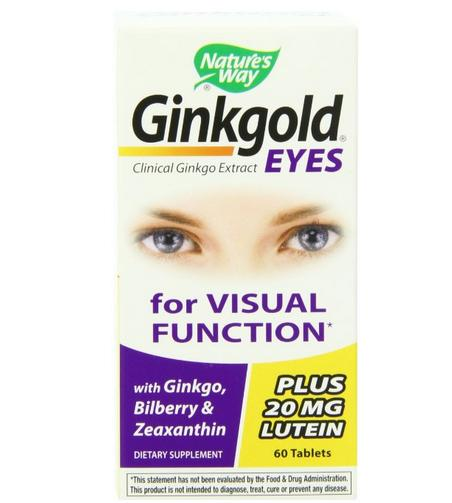Nature's Way Ginkgold Eyes, 60 Tablets