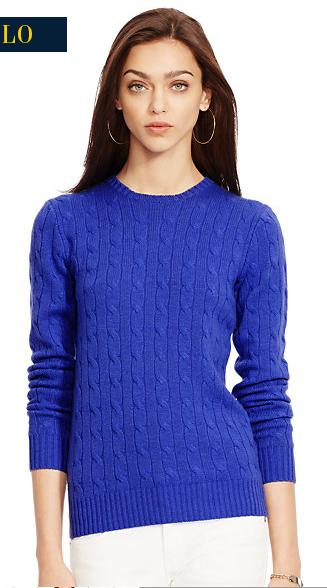 Women's Slim-Fit Cabled Cashmere Sweater