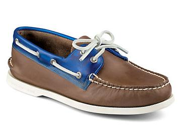 Sperry Authentic Original Colorblock Leather Boat Shoes