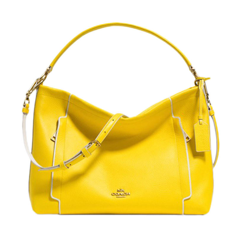 Coach Color Block Leather Scout Hobo