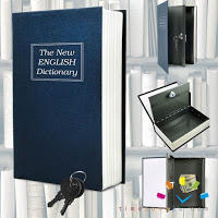 Trademark Home Dictionary Diversion Book Safe with Key Lock, Metal