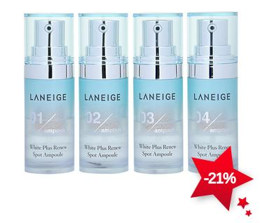 Laneige White Plus Renew Spot Ampoule 7g x 4 pcs On Sale @ COSME-DE.COM