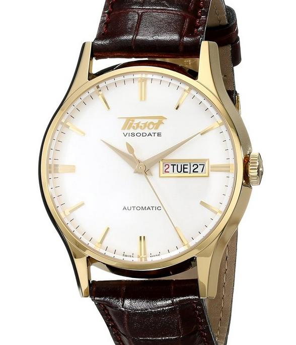 Tissot Men's TIST0194303603101 Visodate Gold-Tone Stainless Steel Watch
