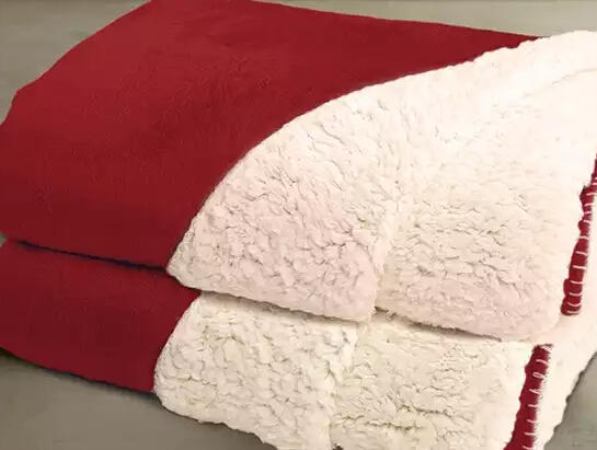 2-Pack of Reversible Sherpa Throws