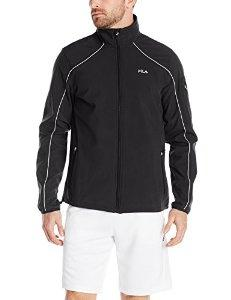 Fila Tennis Men's Bulls Eye Bonded Jacket, Black/Quarry/Black