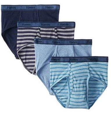 Hanes Men's Tagless Cotton Brief (Pack of 4)