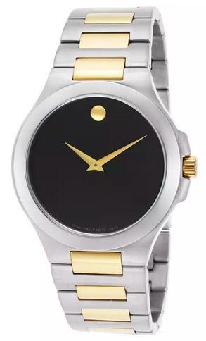 Movado Men's Museum Two-Tone Stainless Steel Black Dial Watch 0606181