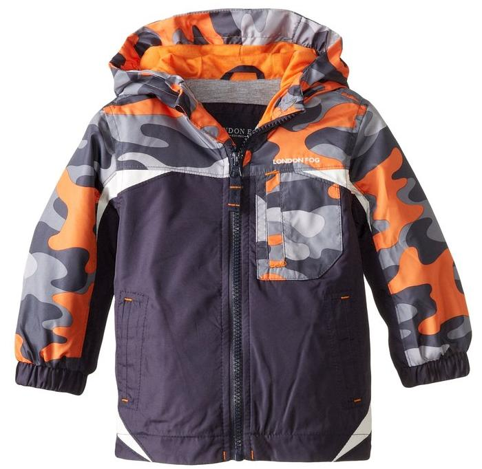 London Fog Baby Boys' Midweight with Camo Yoke