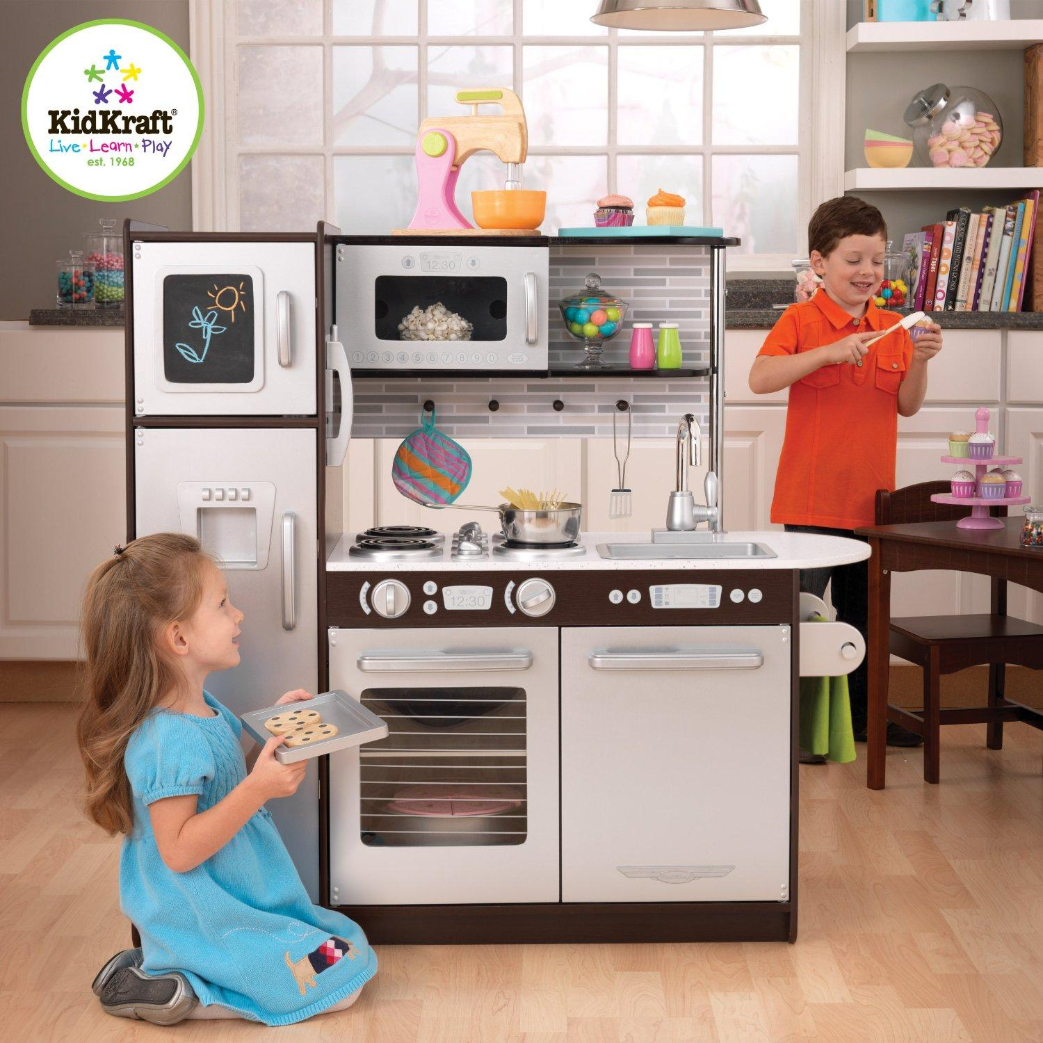 #1 Best Seller! KidKraft Uptown Espresso Kitchen