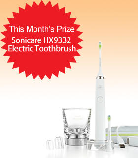 Subscribe to Dealmoon Newsletter, Win the Philips Sonicare HX9332/05 DiamondClean Rechargeable Electric Toothbrush