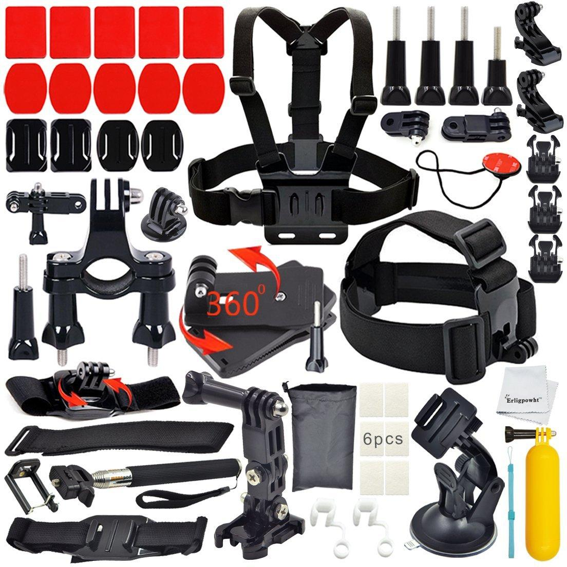 Erligpowht Accessories Bundle kit for GoPro Hero 4 3+ 3 2 1