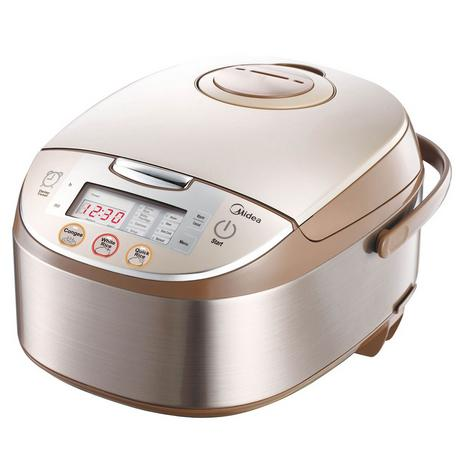 $100 Off + Free Shipping Midea Mb-fs5017 10 Cup Smart Multi-cooker/rice Cooker & Steamer & Slow Cooker, Brushed Stainless Steel and Brown