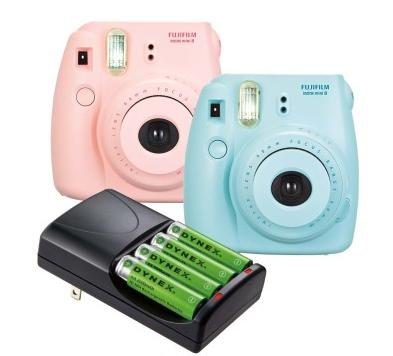 Fujifilm Instax Mini 8 Instant Film Camera + Dynex™ AA Battery Charger