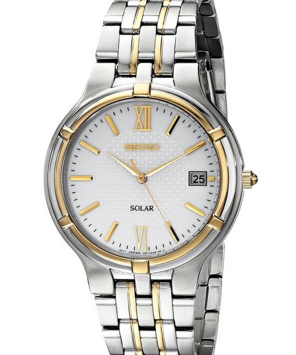 Seiko Men's SNE066 Dress Solar Watch