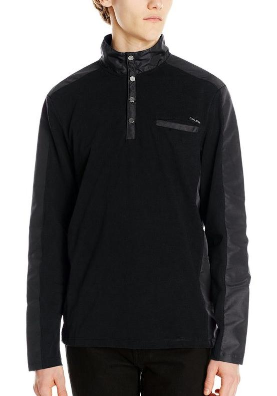 Calvin Klein Men's Quarter Zip Athletic Pique Sweatshirt