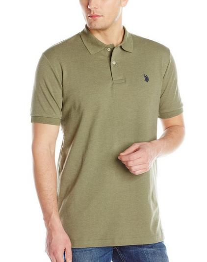 $12.07 U.S. Polo Assn. Men's Solid Interlock Short Sleeve Polo Shirt