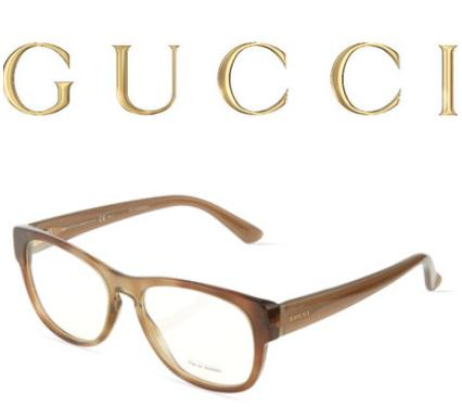 Gucci  Havana Brown Plastic Optical Glasses