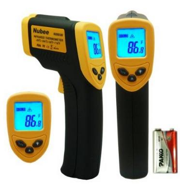 Nubee Temperature Gun Non-contact Infrared Thermometer, Yellow/Black