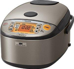 $239.99 Zojirushi NP-HCC10XH Induction Heating System Rice Cooker and Warmer, 1 L, Stainless Dark Gray