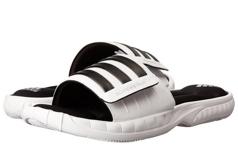 adidas Performance Men's Superstar 3G Slide Sandal, White/Black/Silver