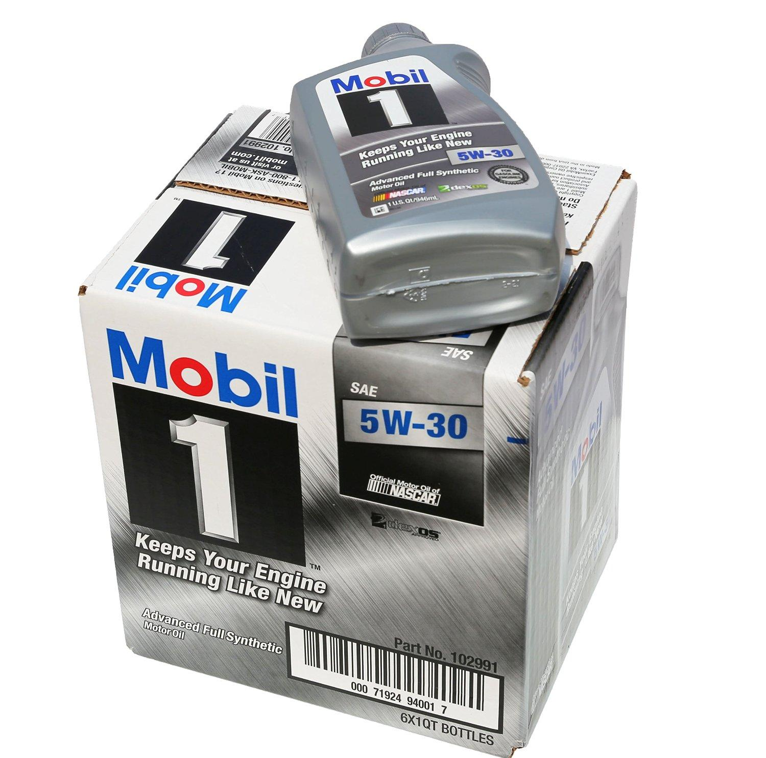 $27.99 Mobil 1 94001 5W-30 Synthetic Motor Oil - 1 Quart (Pack of 6)