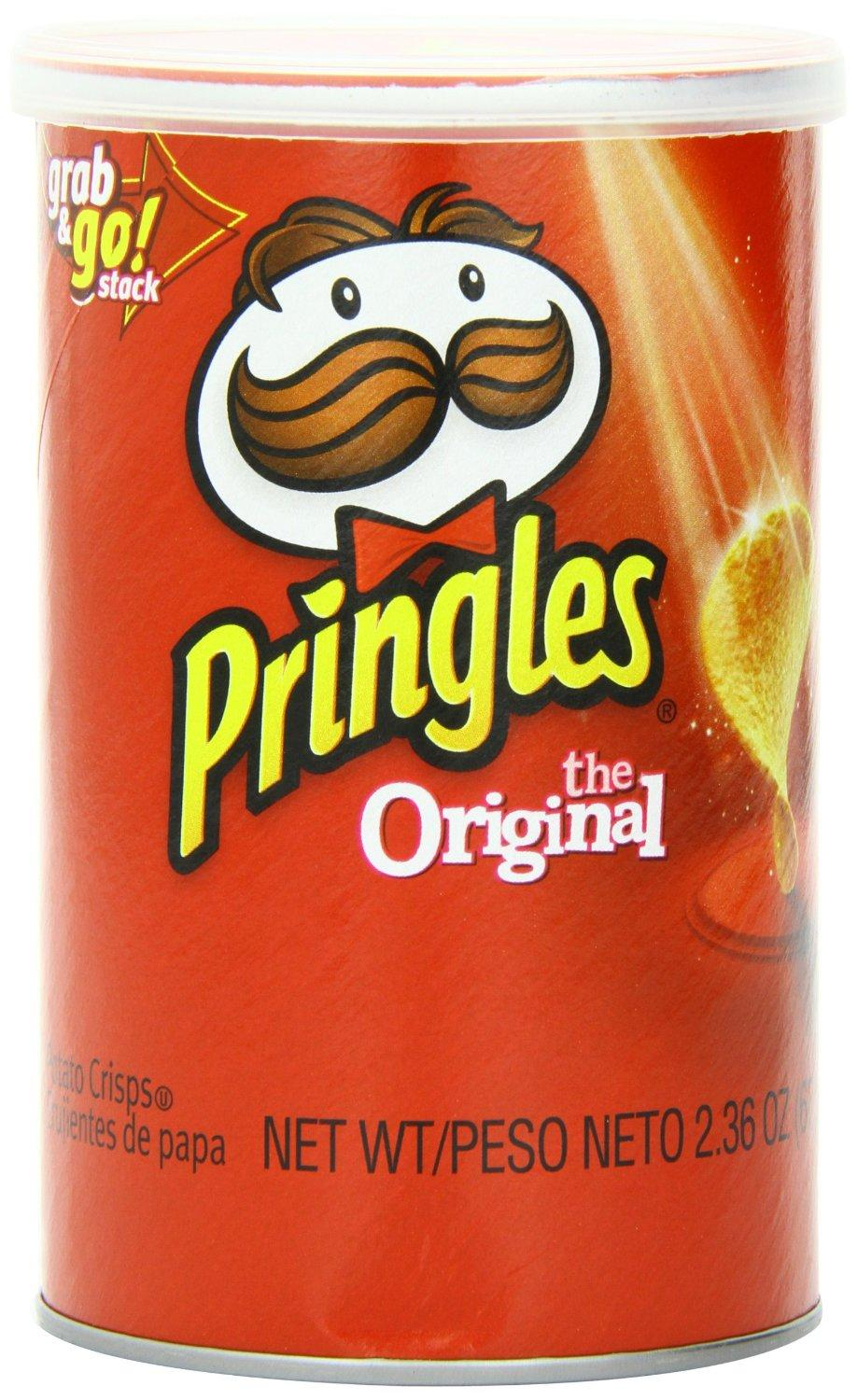 $6.3 Pringles Original Grab and Go Pack, 2.36 Ounce (Pack of 12)