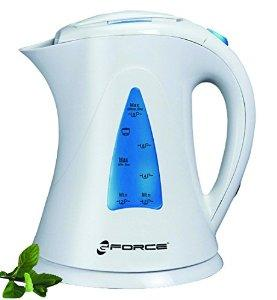 GForce GF-P1238-721 Automatic Electric Jug Kettle, 1500W, White/Blue