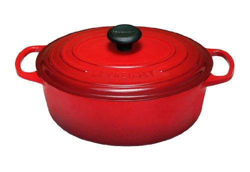 Le Creuset Signature Enameled Cast-Iron 3-1/2-Quart Oval (Dutch) French Oven, Cherry