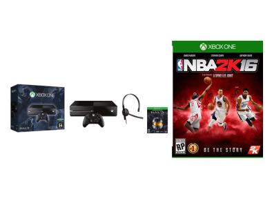 $300 Microsoft Xbox One Halo Bundle+ NBA2K16 XBOX ONE