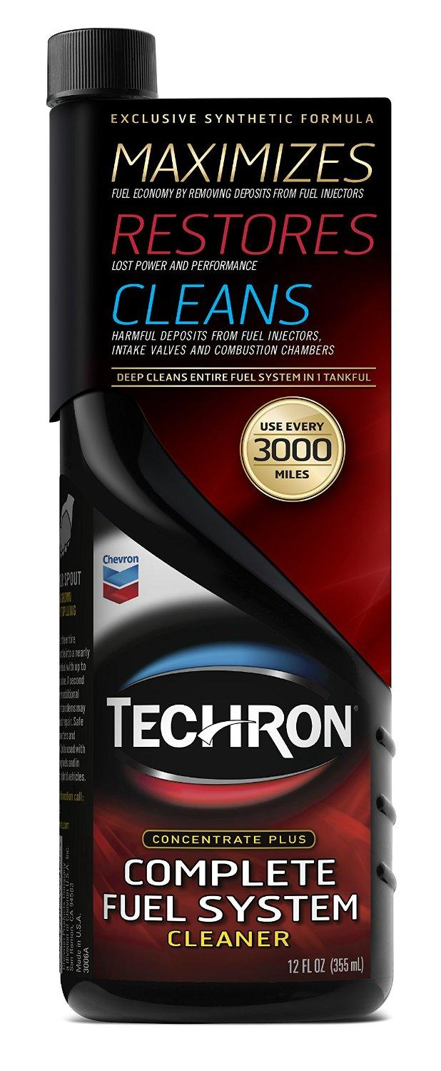 Chevron Techron Concentrate Plus Fuel System Cleaner 12 oz.(Pack of 6)