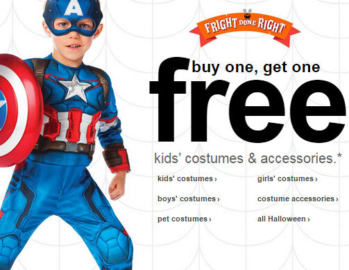BOGO Free Kids' Costumes, Halloween Decorations at Target