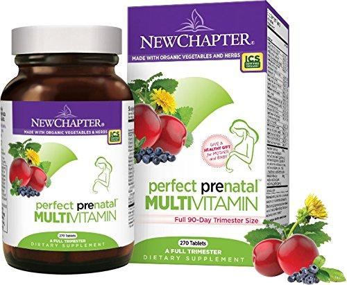 New Chapter Perfect Prenatal Multivitamin Trimester 270 ct (90 Day Supply)